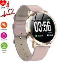 Relógio inteligente luxo feminino, relógio inteligente monitor de sono pressão arterial pedômetro à prova d água calorie relógio de pulso esportes telefone android