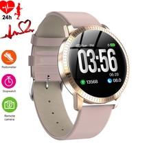 Reloj de lujo para mujer, relojes inteligentes con control de la presión arterial del sueño, podómetro a prueba de agua, reloj de pulsera deportivo de calorías para teléfono Android