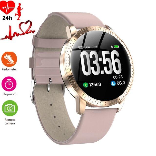 Vrouwen Horloge Luxe Slaap Bloeddrukmeter Slimme Horloges Mannen Waterdicht Stappenteller Calorie Sport Horloge Telefoon Android
