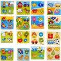 Красочные Деревянные Головоломки Животных Мультфильм Образовательных Обучающие Игрушки для Ребенка Детей, Игры, Игрушки Подарки Много Стилей Головоломки