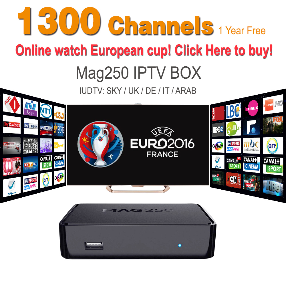 MAG 250 Iptv Set Top Box Sky Italy UK DE Linux European IPTV
