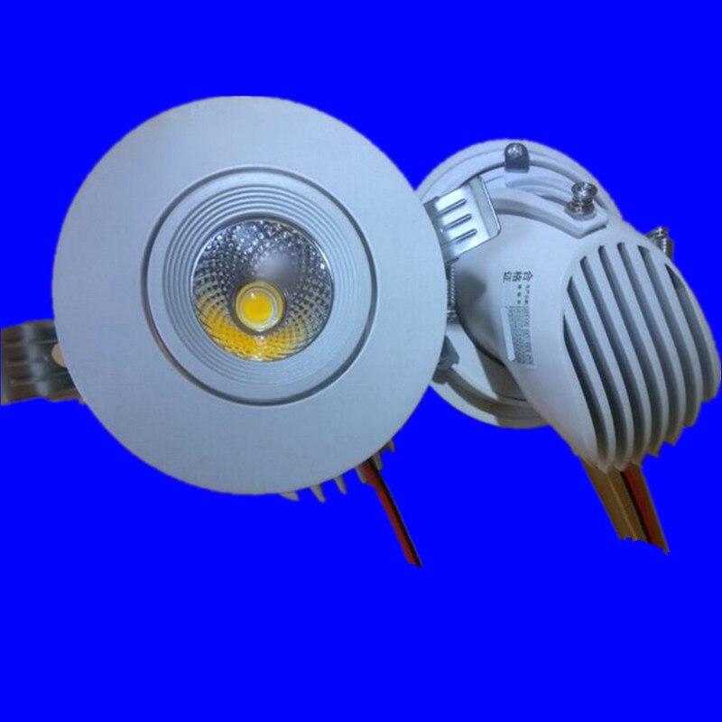Белый Корпус 12 Вт 15 Вт Затемнения УДАРА СВЕТОДИОДНЫЙ Потолочный светильник Площадь Встраиваемый СВЕТОДИОДНЫЙ Светильник 360 градусов AC85-265V