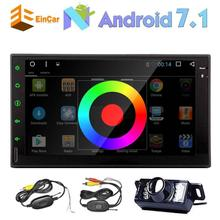 2 DIN car audio Android 7.1 receiver audio headunit GPS navigation FM RDS autoaudio SD/USB/Bluetooth/4G/WiFi/OBD2/1080P+camera