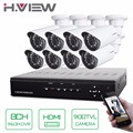 H.View 8CH CCTV System 8 Channel HDMI DVR 8PCS 900TVL IR Weatherproof Security Camera Home Security System Surveillance Kits