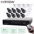 H. view 8ch cctv sistema de 8 canales dvr hdmi 8 unids 900tvl ir resistente a la intemperie cámara de seguridad inicio sistema de seguridad kits de vigilancia