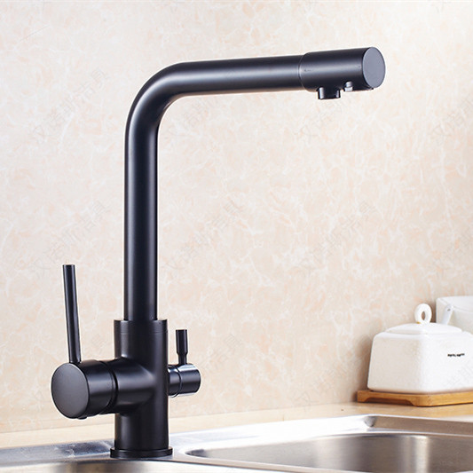 Brand New 3 ways kitchen sink tap for filter kitchen water faucet with antique faucet and solid brass kitchen mixer free shipping brand new kitchen sink faucet tap pure water filter mixer single handles antique brass bar sink faucet