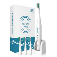 LANSUNG SN901 Ultrasonic Sonic Electric Toothbrush Rechargeable Tooth Brushes With 4 Pcs Replacement Heads Timer Brush