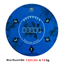 Texas Hold'em Poker Mat 1.2 * 1.2m kulatý stůl kvetinový vzor pryžová hrací rohož zdarma doprava