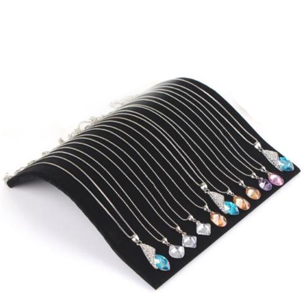 Simple Black Velvet Necklace Bracelet Display Board Necklace Chain Pendant Display Jewelry Organizer Stand Holder For Women