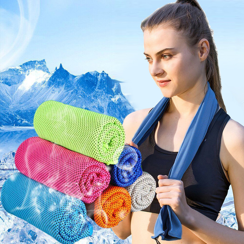 Cold towel fitness quick-drying ice cold towel cold sports towel sweat towel,Blue