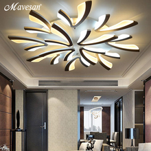 Дистанционный светодиодный потолочный светильник s современный для спальни диммер потолочные лампы акриловый алюминиевый корпус светильник для 8-35 квадратных метров