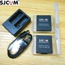SJCAM accessoires dorigine SJ7 étoiles Batteries batterie rechargeable double chargeur batterie étui pour SJCAM SJ7 Action sport caméra