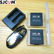 SjcamアクセサリーオリジナルSJ7スター電池充電式バッテリーデュアル充電器バッテリーケースsjcam SJ7アクションスポーツカメラ