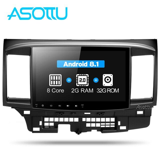 Asottu CYS1060 2G Octa Core Android 8,1 para Mitsubishi Lancer multimedia estéreo Unidad de Radio GPS coche dvd gps player gps ESTÉREO
