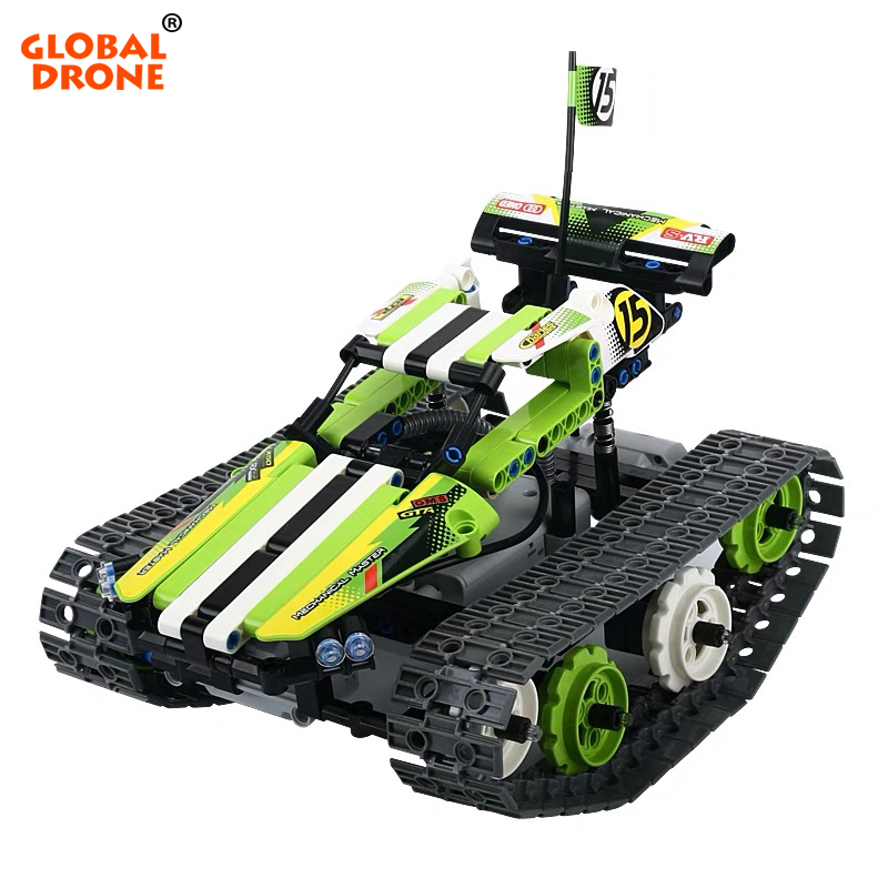 Global Drone Building Blocks RC Tank Transformation Constructor Remote Control Tank Robot Gifts Toys for Boys hanes little boys tank