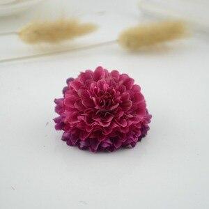 Image 3 - 100Pcs Silk Carnation Multilayer Artificial Flower cheap For Wedding Car Decoration DIY scrapbooking Fake Bridal wrist flower