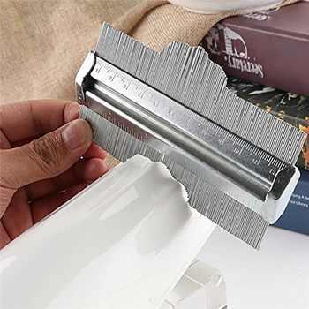 Medidor de contorno de acero inoxidable duplicador medidor de medición de perfil Irregular herramientas de medición de carpintero