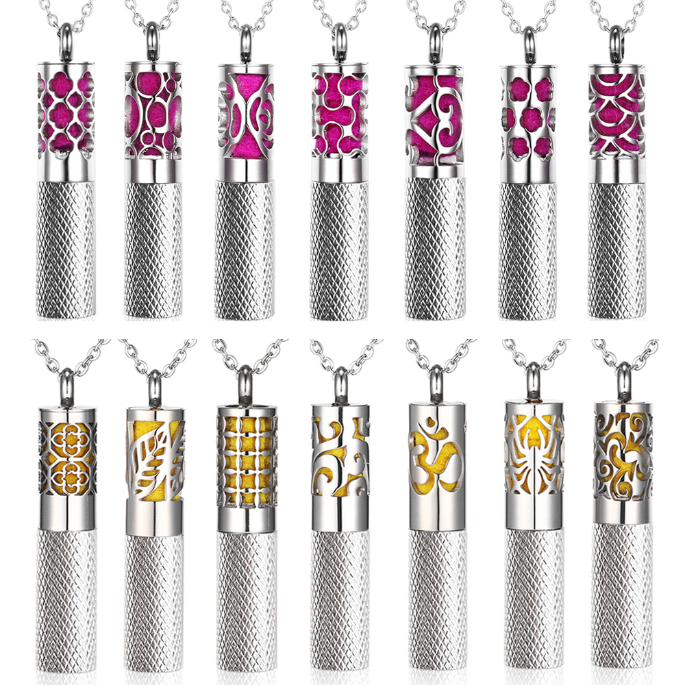 1-A-PEOS17-2 1 - rose stainless steel diffuser essential oil storage