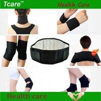 Tcare 7 par/set conjunto turmalina magnética autocalentamiento cintura cuello rodillera apoyo de tobillo codo del cojín de hombro tirantes salud cuidado