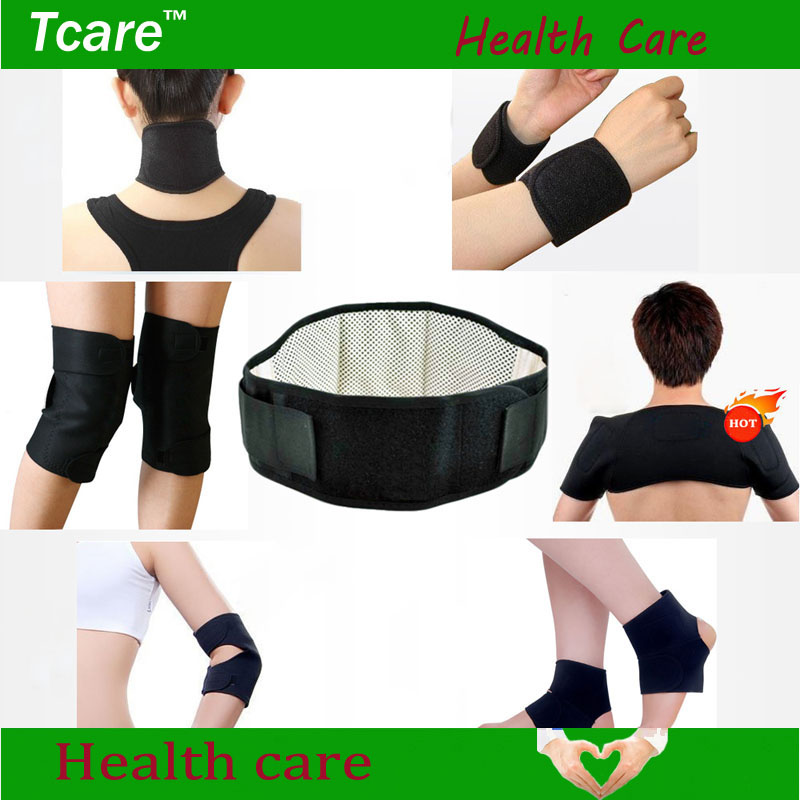 Tcare 7pair/set Tourmaline set self-heating magnetic waist belt kneepad neck ankle support shoulder pad elbow Braces health care body care beauty tourmaline heating belt neck shoulder massage heating pad health care massage belt with tourmaline stone