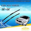 "Lâminas de limpador Para KIA FORTE (2010-2014) 2011 2012 2013 Car Windscreen Windshield Wiper Blade Wiper 24 ""+ 20"" acessórios de Carros estilo"