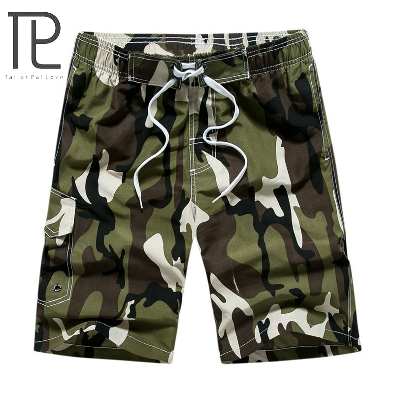 Tailor Pal Love Brand 2018 Summer Hot Camouflage   Board     Shorts   Men Casual Mens Beach   Shorts