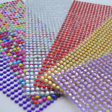 646Pcs/sheet 5mm Self Adhesive Rhinestones Acrylic Stickers DIY Decal Scrapbooking Stickers Mobile/PC Decor Sparkle Gems Craft crystals rhinestones car decor decal styling accessories mobile art diamond self adhesive sticker flat acrylic drilling stickers