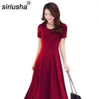 Siriusha Brief Design Long Dress Women S Plus Size Down To The Ground Of The Dresses
