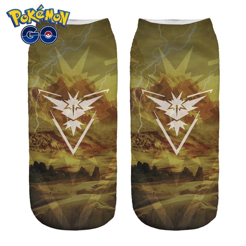 Дамски чорапи с 3D принтиране на животни Mystic на едро къси сладки дами момичета смешни чорапи Pokemon Go