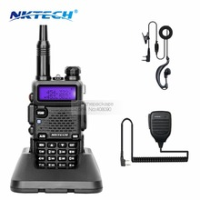 NKTECH DM-5RX Walkie Talkie Handy DMR Digital Mobile 136-174/400-480MHz 2000Mah Battery Mobile Radio +NK-S112 Speaker Microphone