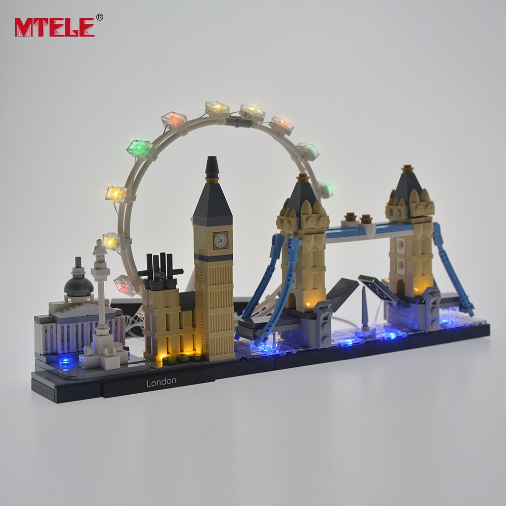 MTELE Led Light Kit For Architecture London Skyline Compatible With 21034 (NOT Include The Model)