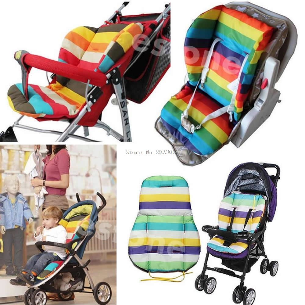 Thick Colorful Baby Infant floor mat Breathable Stroller Padding Liner Car Seat Seat Pushchair Pram Cushion Cotton Mat -B116