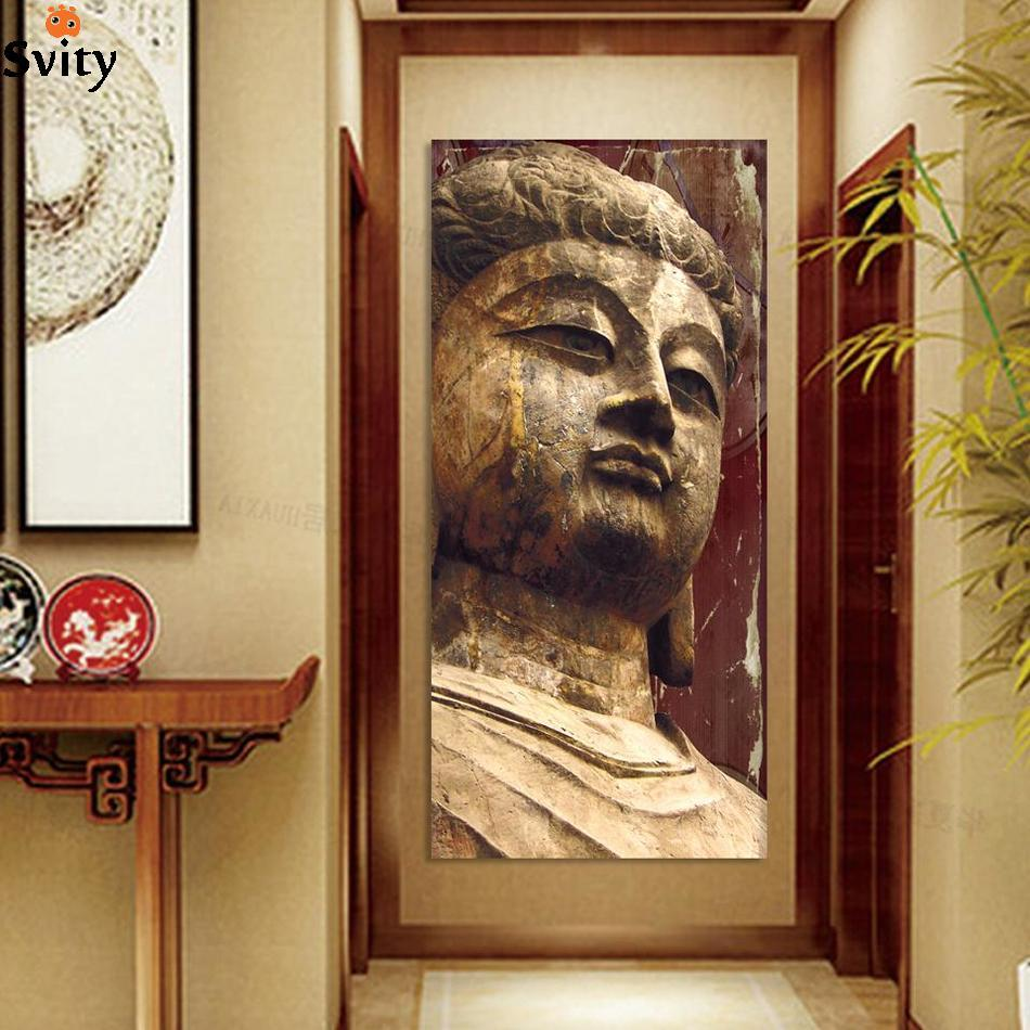 no frame religion buddha image antique painting wall art painting for home decoration on canvas. Black Bedroom Furniture Sets. Home Design Ideas
