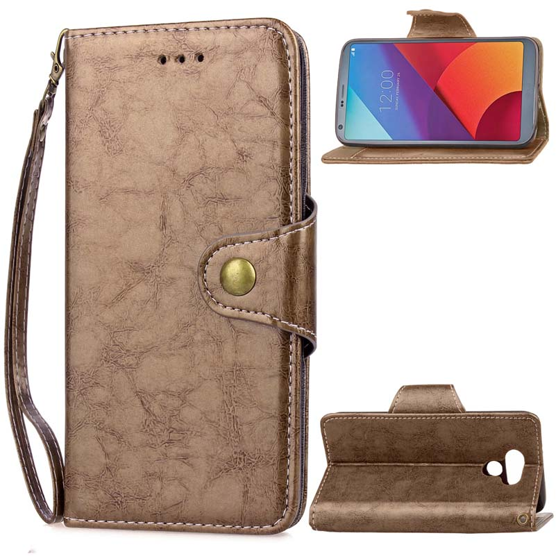 BEFOSPEY Commercial Business Magnetic Wallet Pu Leather <font><b>Phone</b></font> Case For <font><b>LG</b></font> <font><b>G6</b></font>