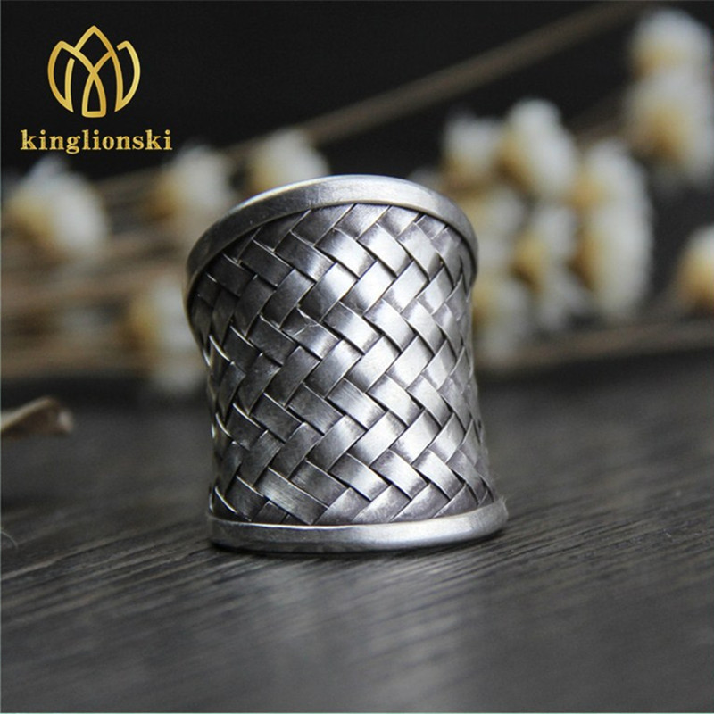 Thailand Handmade Silver Ring Male And Female Models Of -9419
