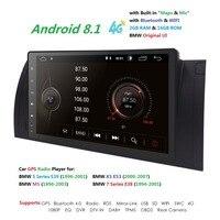 Car 2 din radio 4G android 8.1 GPS Navi for BMW E39 M5 E38 E53 X5 autoaudio navigation head unit multimedia video stereo 2Gb Ram