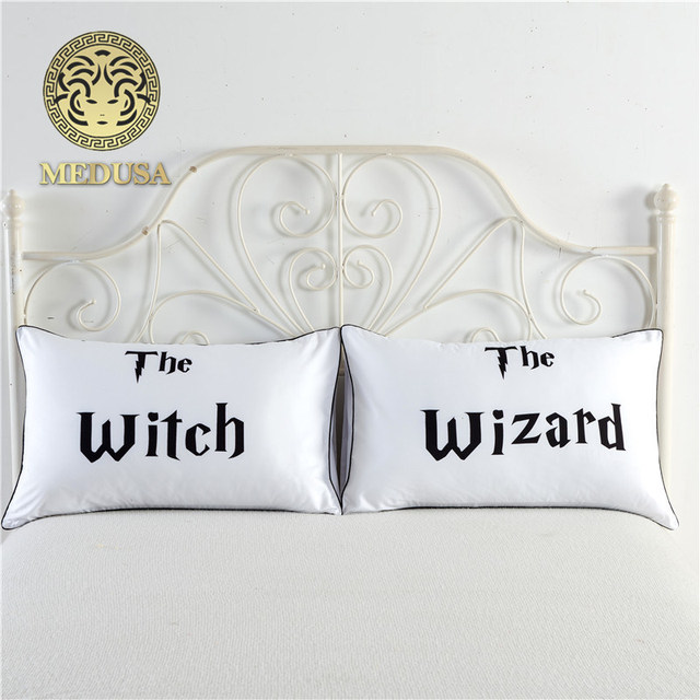 The Witchwizard Wedding Anniversary Pillow Casesgift For Best