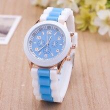Fashion Sport Silicone Quartz Watch Women Men Casual Wrist Watch Waterproof Teenage Boys Watches