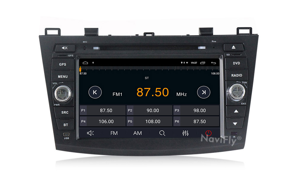 Sale Android 9.1 Car Radio Multimedia for Mazda 3 Mazda 3 maxx Axela 2010-2013 2din car dvd gps navigation player headunit 11
