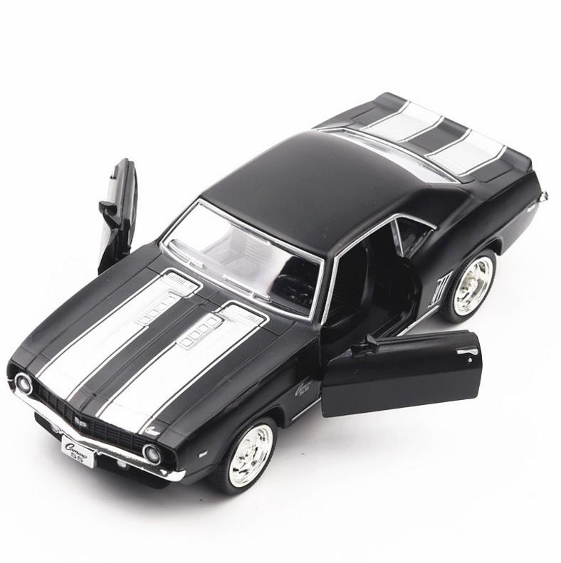1:36 American muscle car alloy pull back car toy diecasts metal model toy Chevrolet Camaro 1969 collection model free shipping image