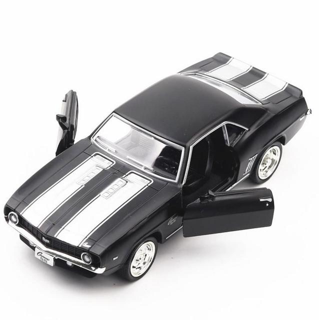 1 36 American Muscle Car Alloy Pull Back Car Toy Diecasts Metal