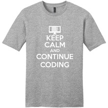 Cheap Graphic Tees MenS Short Sleeve Printing Machine O-Neck Keep Calm And Continue Coding Computer Programmer T Shirts