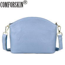 купить COMFORSKIN Bolsas Feminina Luxurious Genuine Leather Messenger Bags European and American Style Ladies Cross-body Bags Hot Sales онлайн
