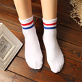 5 Pairs/Lot 2017 New Fashion Casual Cotton Women Socks Preppy Striped College White Socks Men Black Summer Socks Wholesale