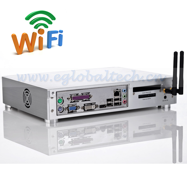 Wireless Thin Client Computer Intel D2550, 64G SSD, 4G DDR High Configuration  HDMI XMBC Mini Server 5 USB port Mini PC Linux