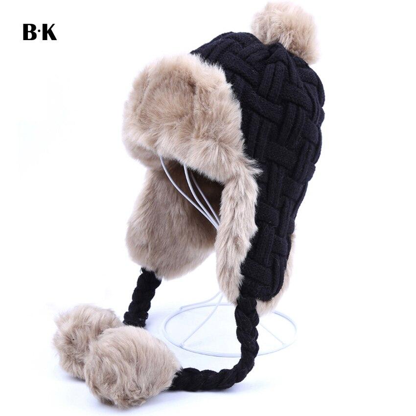 ᗕMujeres Trapper sombreros Invierno Caliente Faux Fox Fur Bomber ...
