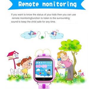 Image 3 - Gps relógio inteligente q750 q100 bebê relógio inteligente com tela de toque 1.54 polegada chamada sos localização dispositivo rastreador para o miúdo seguro pk q50 q90