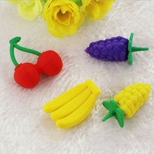 1x Creative stationery children cute cartoon Cute little animal  eraser primary school prizes kawaii supplies
