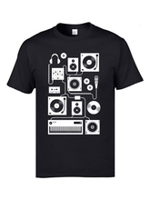 Electronic Music Controller Unit T Shirts Machine HipHop Rock MC Tshirts Pure Cotton Round Collar Mens Tees Leisure Tops