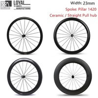 23mm Width 700c Road Bicycle Carbon Fiber Bike Wheel 38mm 50mm 60mm 88mm Wheelset With Taiwan
